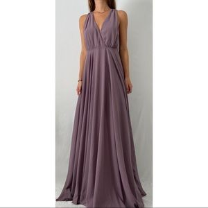 Lulus Dance the Night Away Dusty Purple Maxi Dress